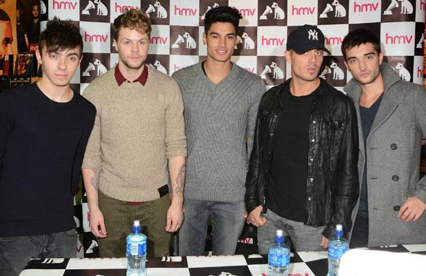 The Wanted - Jay McGuiness, Max George, Tom Parker, Siva Kaneswaran, Nathan Sykes at HMV Dundrum, 19 November 2013