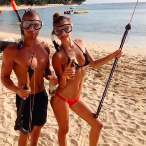 Model Nina Agdal shares picture of her holiday in Barbados with boyfriend Max George, 29 November 2013