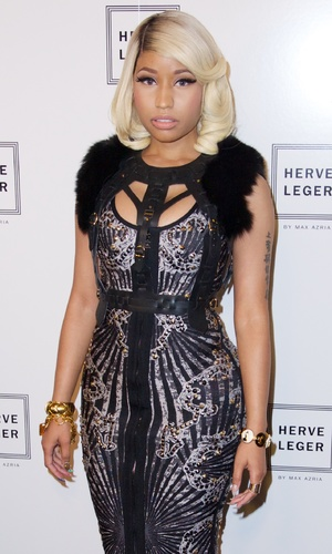 Nicki Minaj at The Herve Leger by Max Azria Spring 2014 Runway Show Collection, New York, 7 September 2013