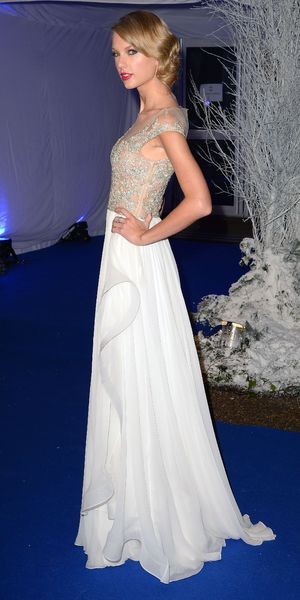 Taylor Swift attends the Winter Whites Centrepoint Gala, Kensington Palace, London, Britain - 26 Nov 2013