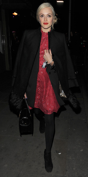 Fearne Cotton attends the Celebrity Juice wrap party, held at Maggie's members club in Chelsea, 25 November 2013