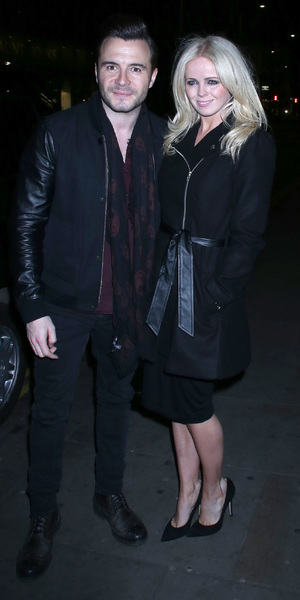 Shane Filan and wife Gillian attend the Celebrity Juice wrap party, held at Maggie's members club in Chelsea, 25 November 2013