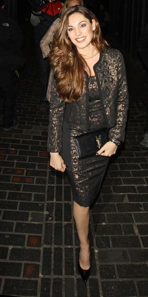 Kelly Brook attends Rita Ora's birthday celebrations at Box club in London, Soho - 26 November 2013