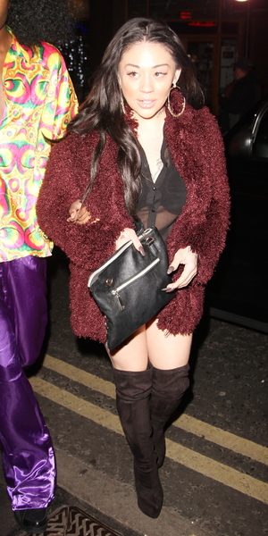 Mutya Buena attends Rita Ora's birthday celebrations at Box club in London, Soho - 26 November 2013