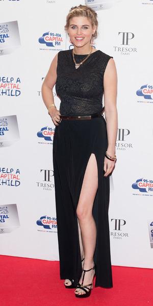 Ashley James arrives at Capital Rocks at The Roundhouse, London, 28 November 2013
