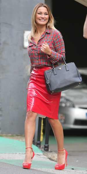Sam Faiers outside ITV studios after her appearance on This Morning, 29 November 2013