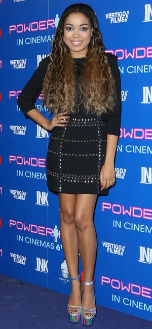 Dionne Bromfield at the Powder Room premiere at Cineworld in Haymarket, London - 27 November 2013