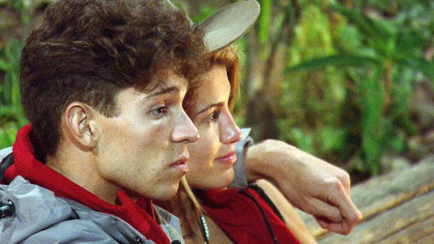 'I'm A Celebrity Get Me Out Of Here' TV Programme, Australia - 25 Nov 2013 Joey Essex comforting Amy Willerton by the camp fire after the 'Grot Tubs' challenge 25 Nov 2013