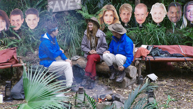Amy Willerton joins fellow Camp Saviours Kian Egan and Joey Essex in I'm A Celebrity, 30 November 2013