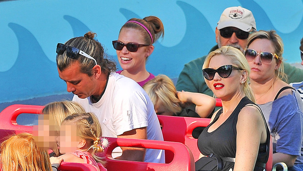 Gwen Stefani and Gavin Rossdale spend quality time with their children at Disneyland, 25 November 2013