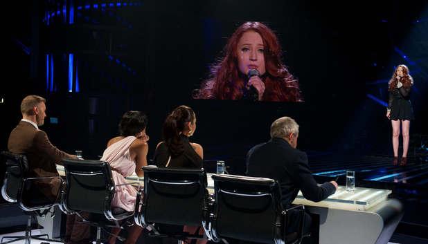 The X Factor' TV Programme, Results Show Live, Fountain Studios, London, Britain. - 27 Nov 2011 The Judgesand Janet Devlin 27 Nov 2011