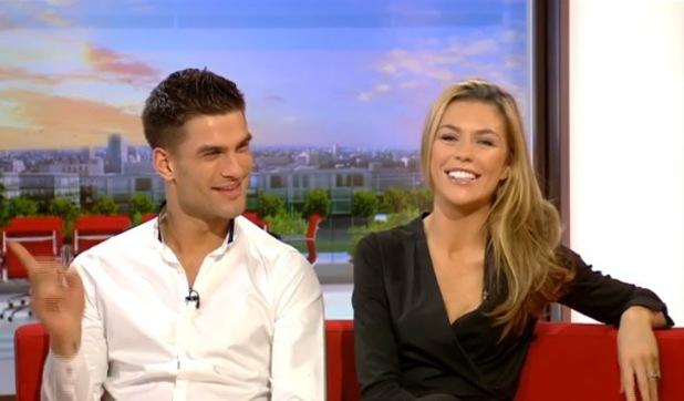 Abbey Clancy and Aljaz Skorjanec appear on BBC Breakfast - 28 November 2013