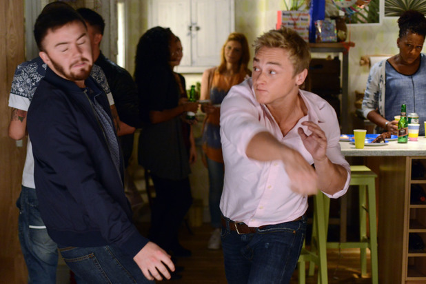 EastEnders, Peter punches Dean, Fri 29 Nov