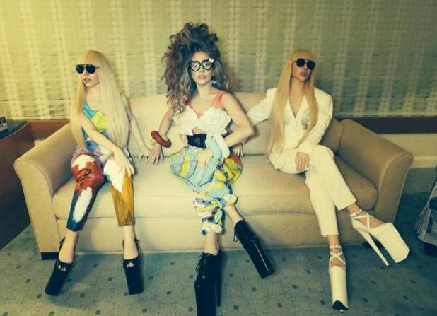 Lady Gaga unveils two life-size musical 'Gaga Dolls' in Japan