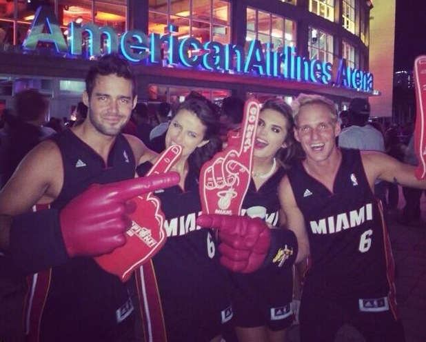 Jamie Laing hangs out with Spencer Matthews and Victoria's Secret models in Miami - 26 November 2013