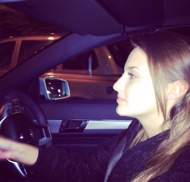 Jamie Laing tweets picture of Lucy Watson being his chauffeur! 27 November 2013