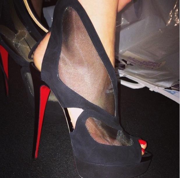Rita Ora posts early birthday present of some black Louboutin heels