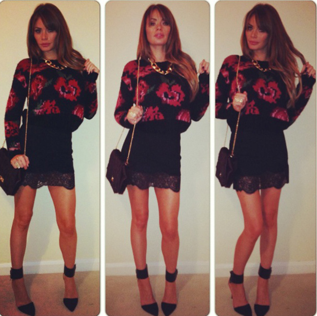 TOWIE's Chloe Sims fashion blog Look two: FunkyOffish floral 29 November 2013