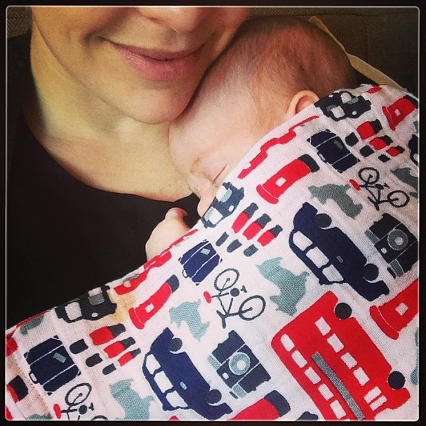 Cherry Healey shares first picture of her baby son - 25 November 2013