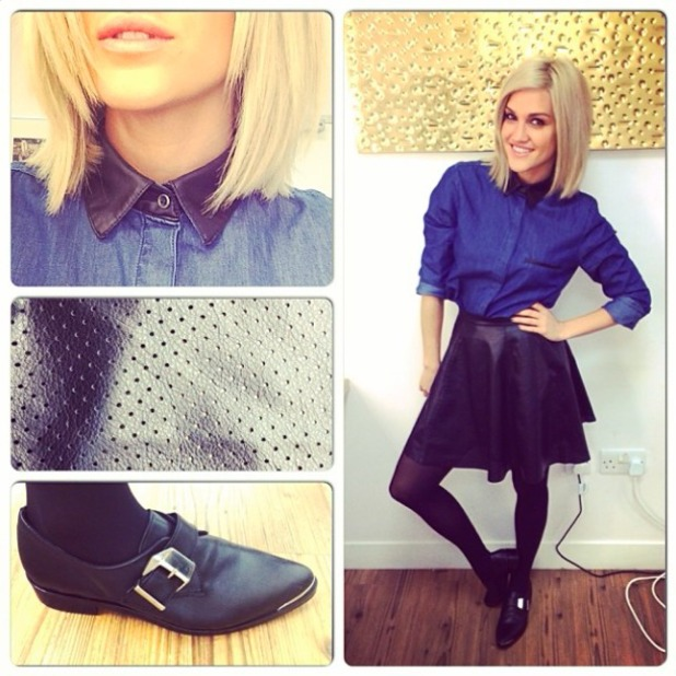 Ashley Roberts tweets her day's outfit, November 26 2013