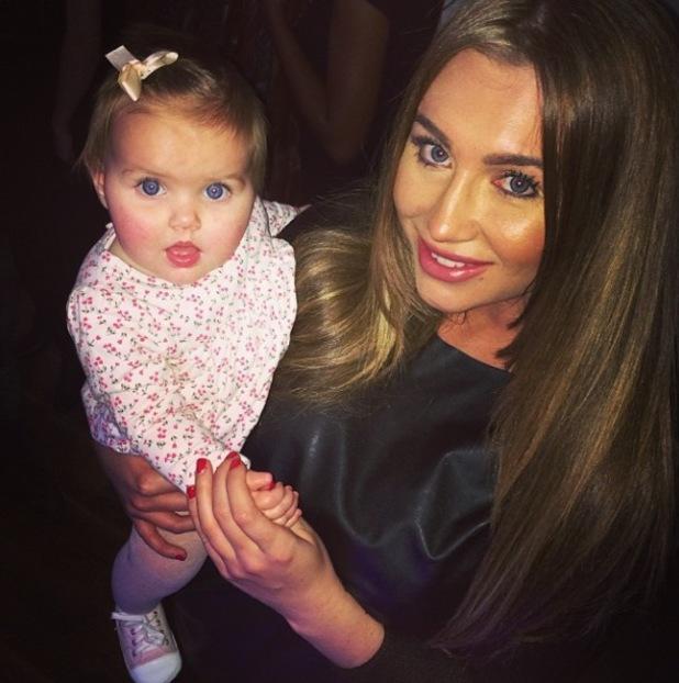 TOWIE's Lauren Goodger meets Imogen Thomas' baby Ariana Siena - 28 November 2013