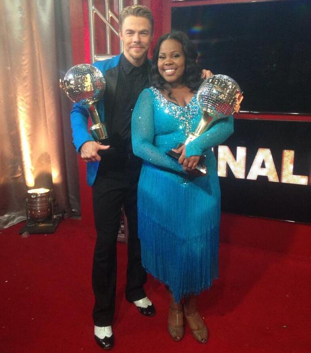 Amber Riley and Derek Hough win Dancing With The Stars - 26 November 2013