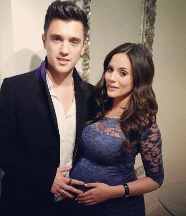 A pregnant Caterina Lopez, and boyfriend, Union J star JJ Hamblett