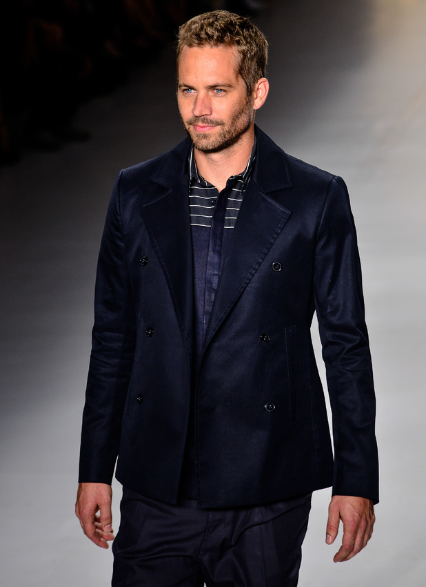 Paul Walker takes to the catwalk during Sao Paulo Fashion Week, March 2013
