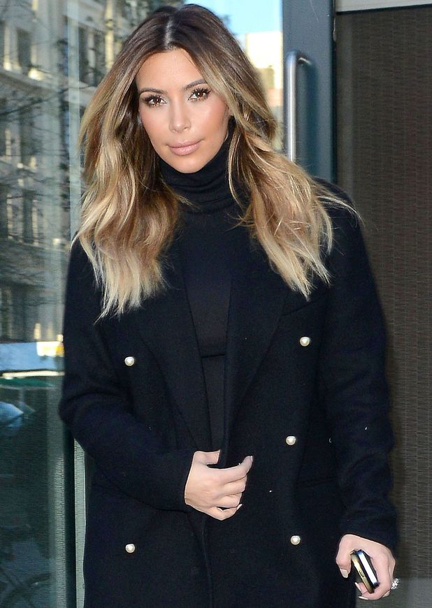 Kim Kardashian out and about in New York, America - 25 Nov 2013