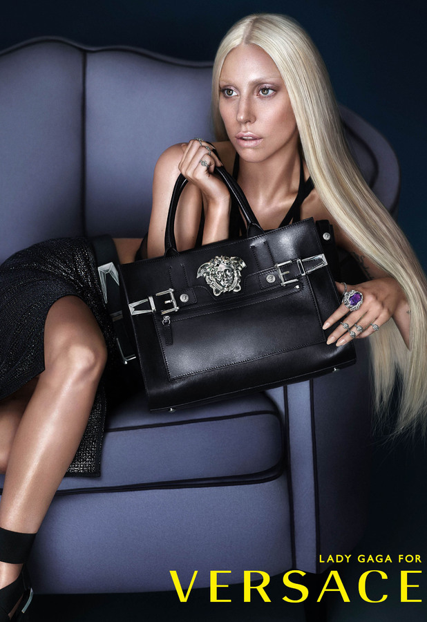 Lady Gaga as the face of Versace Spring/Summer 2014