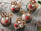 The best Christmas cupcakes EVER? Rudolph Red Velvet Cupcakes recipe