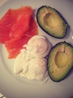 Millie Mackintosh's egg and avocado breakfast. Dec 13.