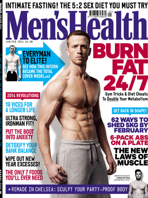 January/February issue of Men's Health, on sale Wednesday 4 December.