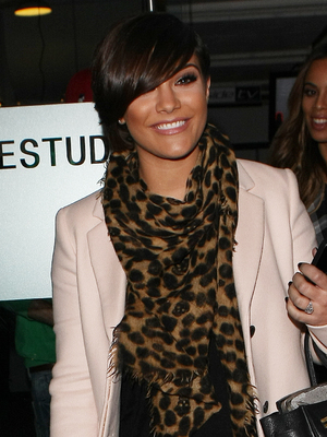 Frankie Sandford rejoins The Saturdays to record TOTP Christmas Special at Riverside Studios, 6 December 2013