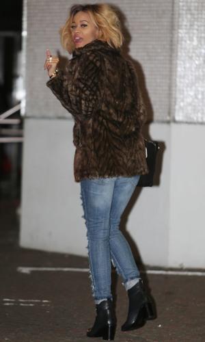 X Factor Tamera Foster outside the ITV studios - 1 December 2013