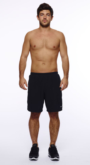 Men's Health magazine six-pack challenge for the Made In Chelsea boys Pictured: Alex Mytton