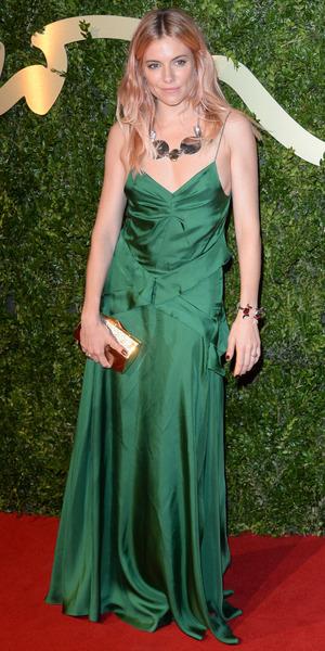 Sienna Miller at British Fashion Awards in London - 2 December 2013
