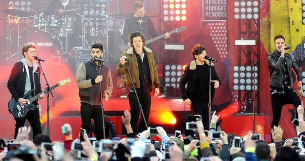 Good Morning America' TV show, New York, America - 26 Nov 2013 Niall Horan, Zayn Malik, Harry Styles, Louis Tomlinson and Liam Payne