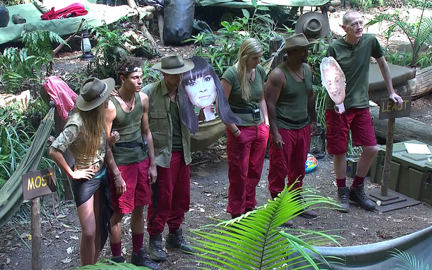 'I'm A Celebrity Get Me Out Of Here' TV Programme, Australia - 04 Dec 2013 David Emanuel, Amy Willerton, Joey Essex, Rebecca Adlington, Kian Egan, Alfonso Ribeiro, Steve Davis order themselves for most attractive.