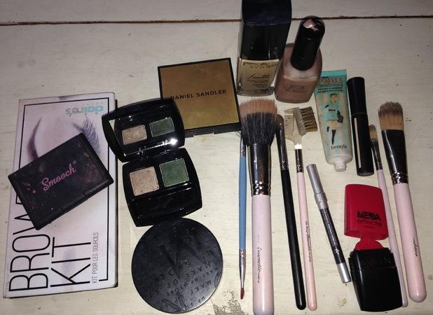 Inside Ashley James' make-up bag - December 2013