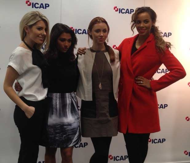 ICAP Charity Day, London, Britain - 03 Dec 2013 The Saturdays - Mollie King, Una Foden, Vanessa White, Rochelle Humes
