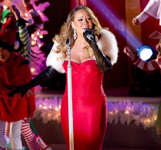 Rockefeller Center Christmas Tree Lighting Ceremony, New York, America - 03 Dec 2013 Mariah Carey