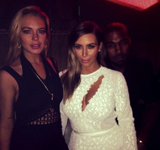 Lindsay Lohan. Kim Kardashian, Kanye West at Art Basel, Miami - 4.12.2013