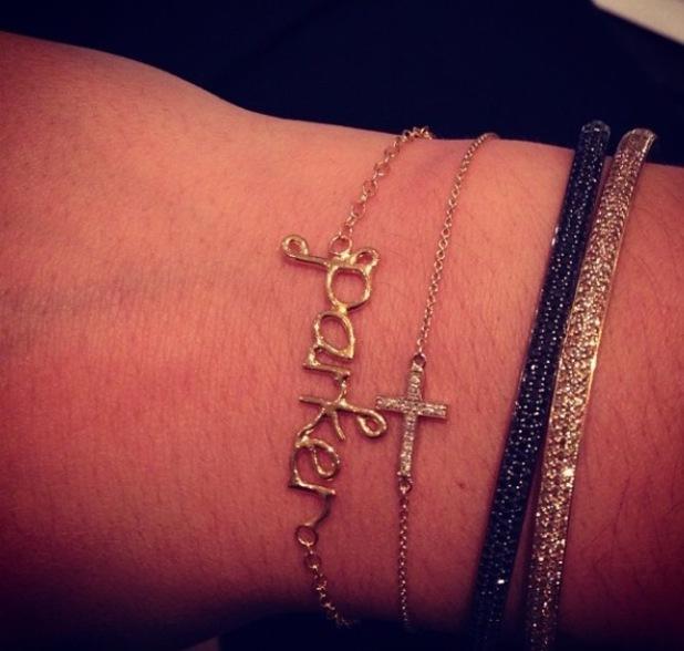 Frankie Sandford wears Parker bracelet in homage to her baby son - 4 December 2013