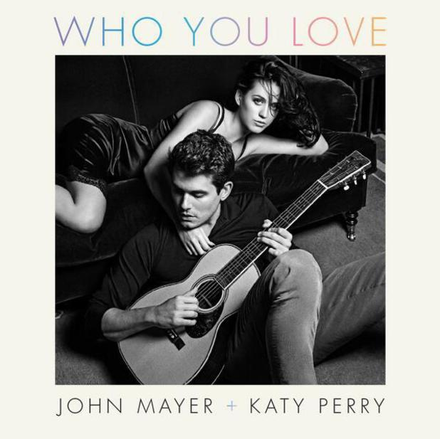 John Mayer and Katy Perry artwork for their song, 'Who You Love'.
