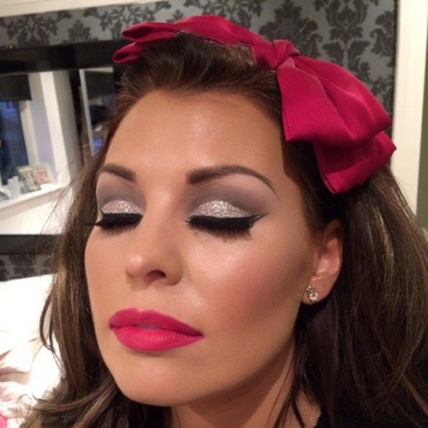 Jessica Wright shows off Christmas make-up look by Krystal Dawn - 1 December 2013
