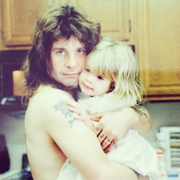 Kelly Osbourne shares cute throwback picture of herself and Ozzy to mark his 65th birthday - 4 December 2013