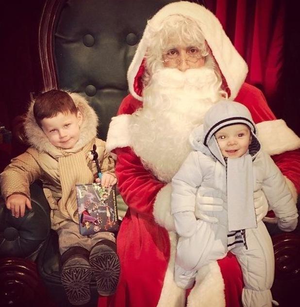 Coleen Rooney's sons meet Santa - 3 December 2013