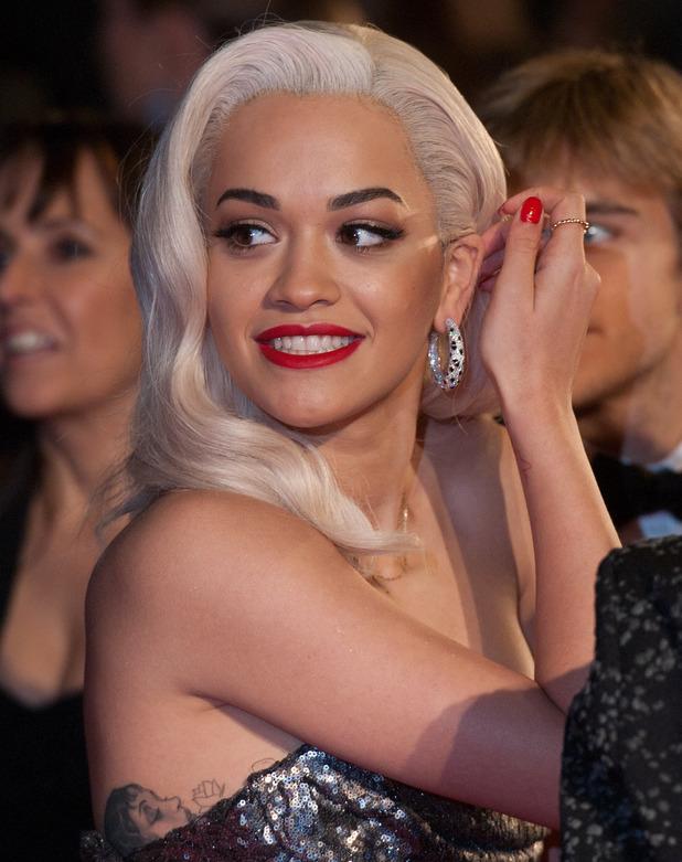 Rita Ora at the British Fashion Awards The 2013 British Fashion Awards held at the Coliseum - Arrivals.