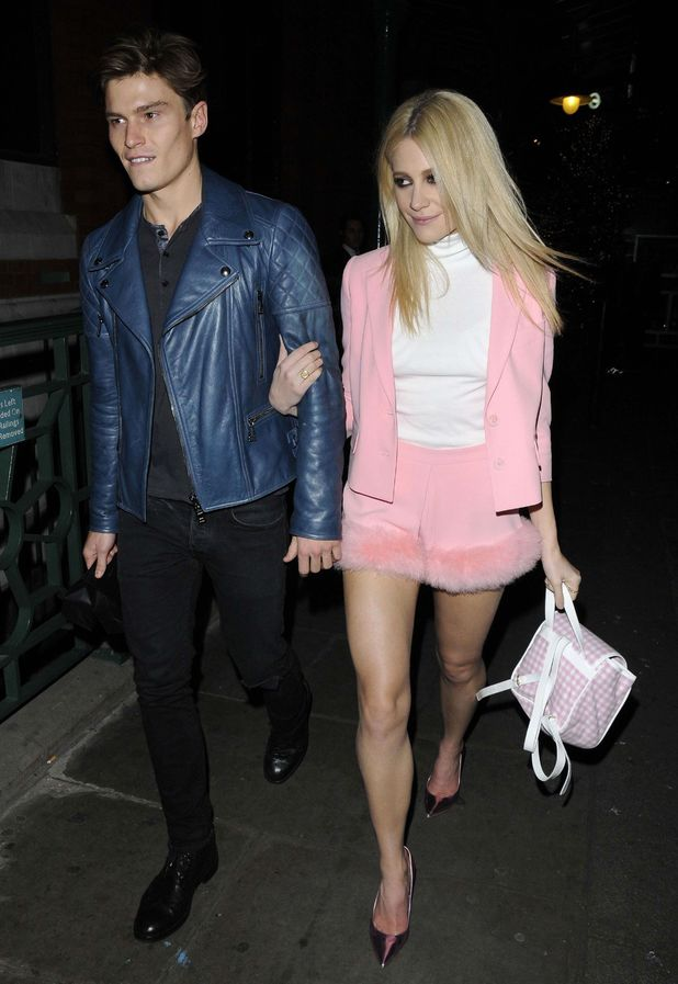 Pixie Lott attends fashion fringe 10th anniversary party with boyfriend
